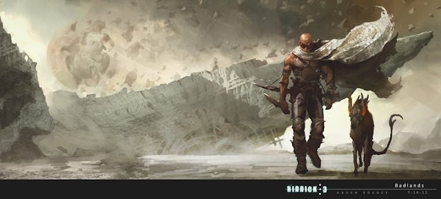 Ridick Badlands concept art a Furyan and his Jackal