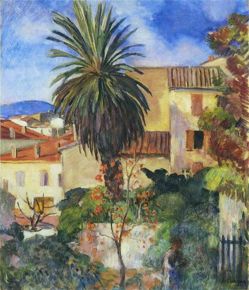 Henri Lebasque - Garden at St Tropez-1907