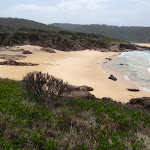 Bournda Beach from Bournda Island (107110)