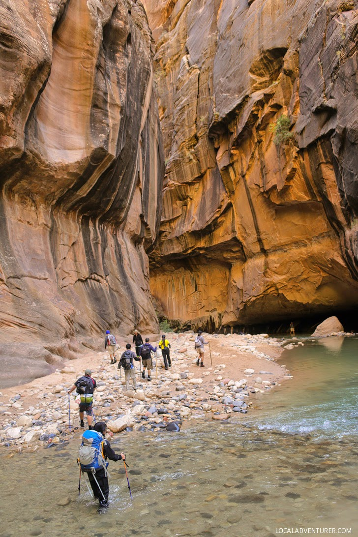 Photo Guide of the Zion Narrows Hike Day 2.