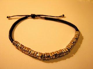 MRE Jewelry Bracelet-Adjustable, Silver over leather