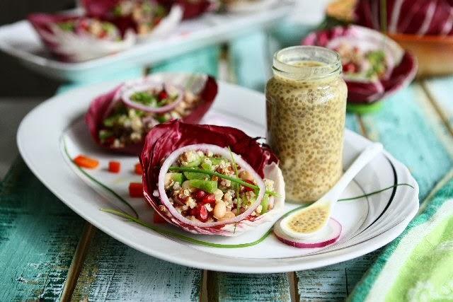 Quinoa Radicchio Wraps with Chia Seed Vinaigrette