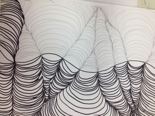 Line Design Op Art : Creations from young minds fourth grade op art line design