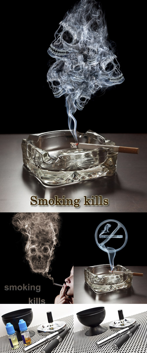 Stock Photo: Smoking kills