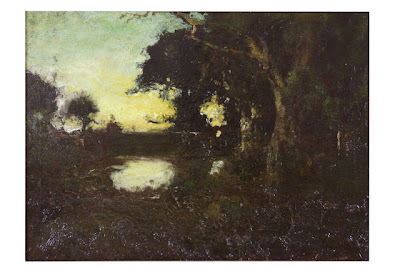 Twilight (or Ideal Landscape), William Keith (1838-1911), oil on canvas, City of Monterey de Haven/Jacks Collection.