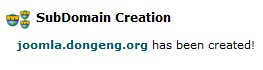 Created Subdomains