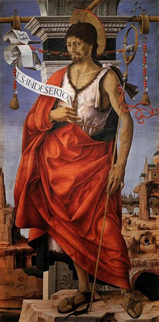 Francesco del Cossa - Griffoni Polyptych St John the Baptist