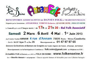 Bal folk samedi 6 avril 2013 à Paris (75)