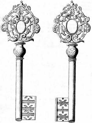 Ключи, поднесенные Б.П. Шереметеву в Риге