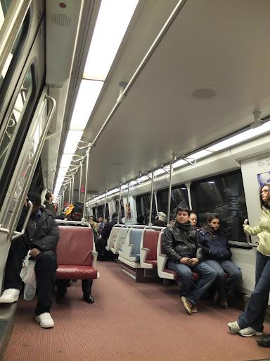ワシントンの地下鉄内部