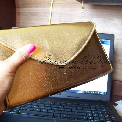 złota torebka kopertówka Panorama LeSage