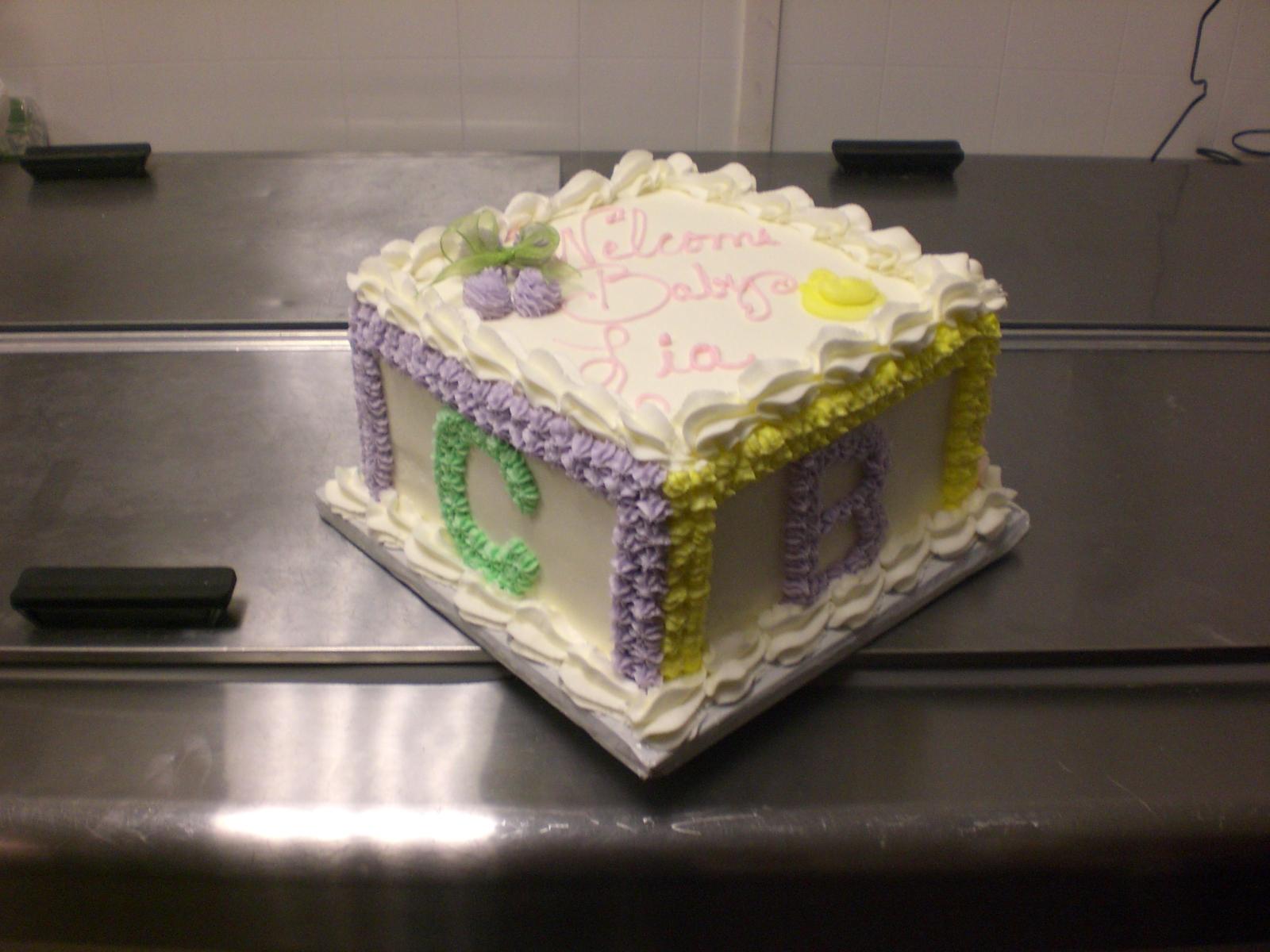 Cake Art Lawrenceville Hwy : CAFE AROMAS: Baby Block Cake!