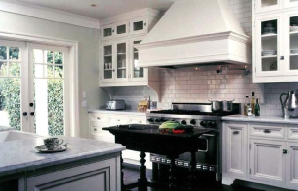 French Country Kitchen Dark Hood Vents
