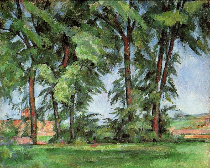 Paul Cézanne - Tall Trees at the Jas de Bouffan
