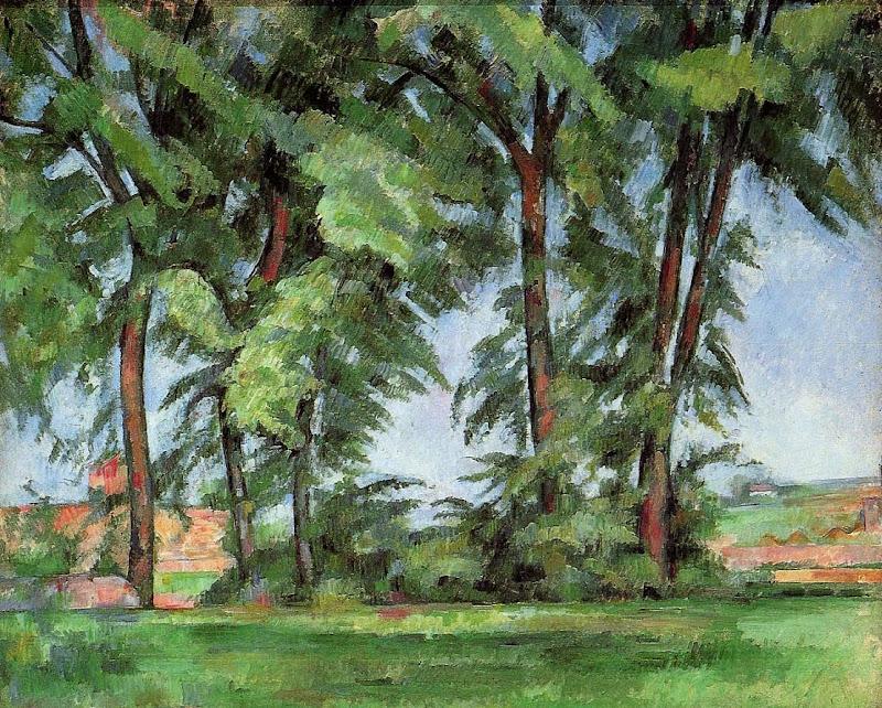 Paul Cézanne - Tall Trees at the Jas de Bouffan