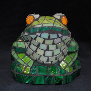 Mosaic Frog Garden Accents