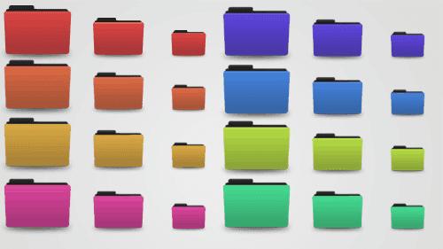 Organización de carpetas por colores en Ubuntu