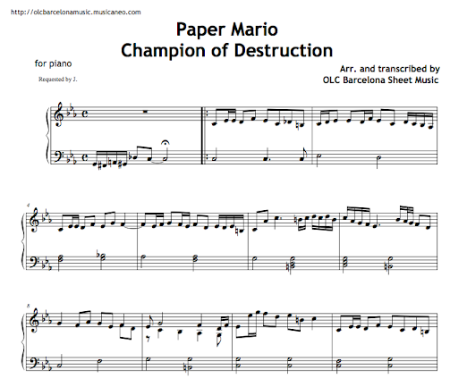 mario theme song piano pdf