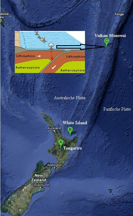 Neuseeland Subduktionszone