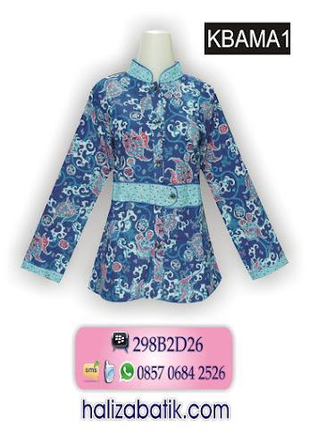 model baju wanita, desain batik modern, baju batik lengan panjang