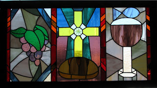 Archbishop Rodi Blesses New Stained Glass in Montgomery Catholic's Chapel 2