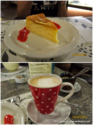 Cheesecake and Latte at Hill Station Baguio City PH, 2013