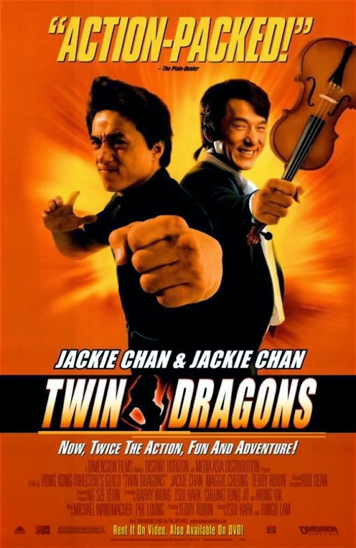 Poster Of Twin Dragons (1992) Full Movie Hindi Dubbed Free Download Watch Online At Alldownloads4u.Com