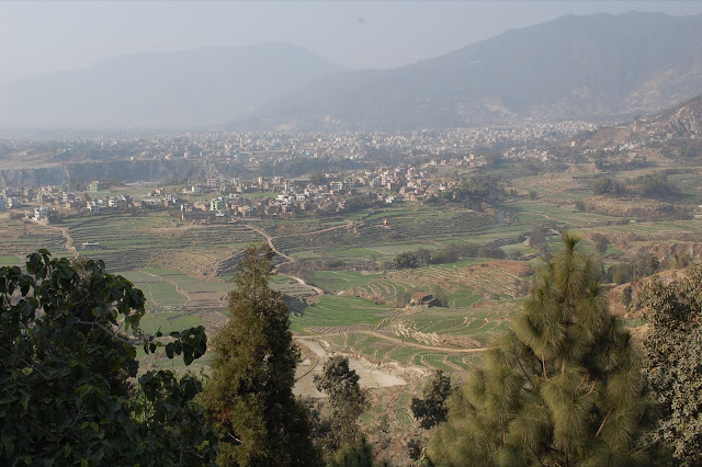 Green Fields on Edge of Kathmandu Valley north of Kopan District