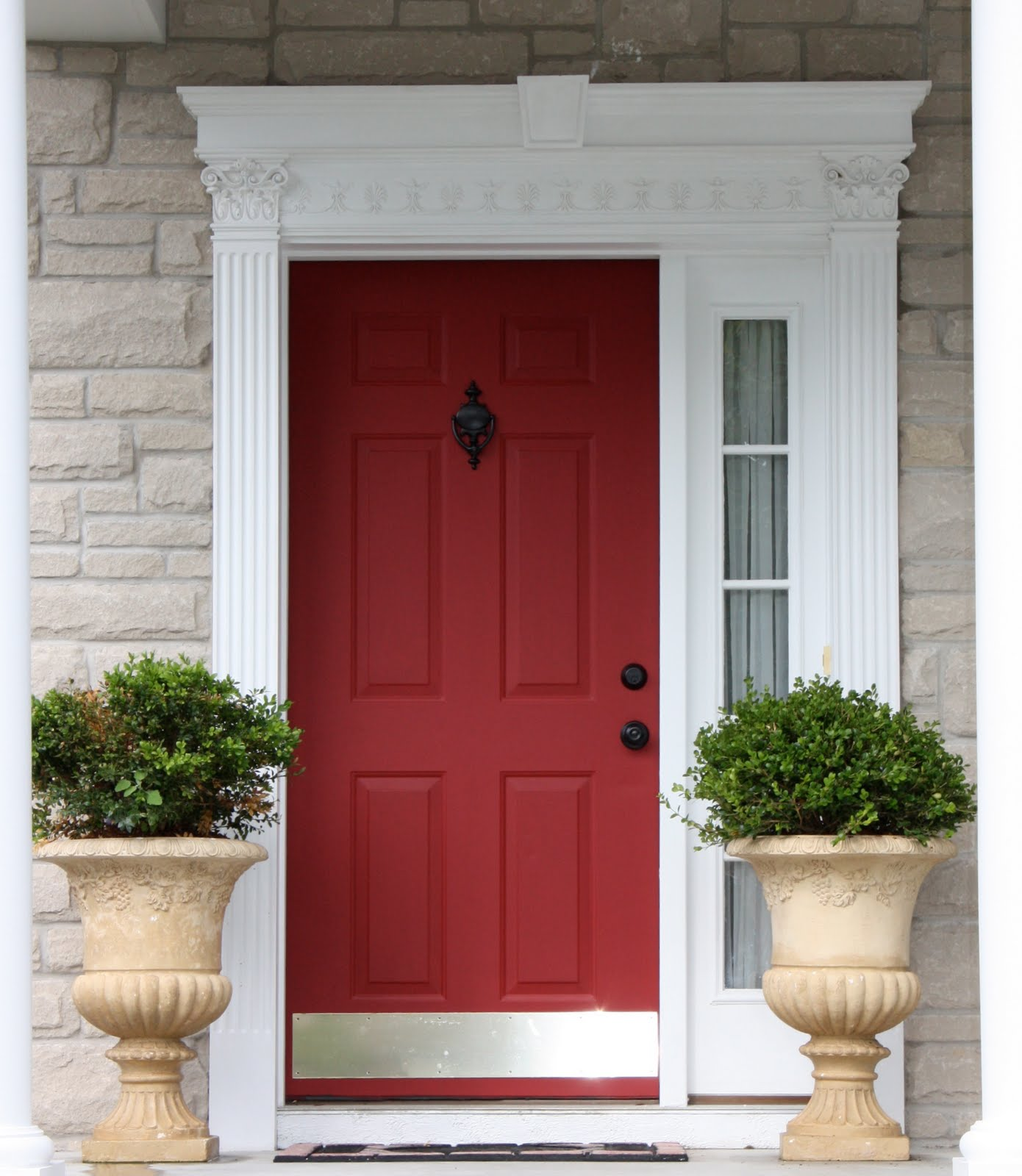 Modern Red Front Door: The Yellow Cape Cod: My Home
