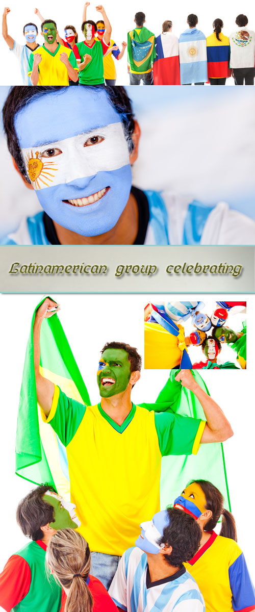 Stock Photo: Latinamerican group celebrating