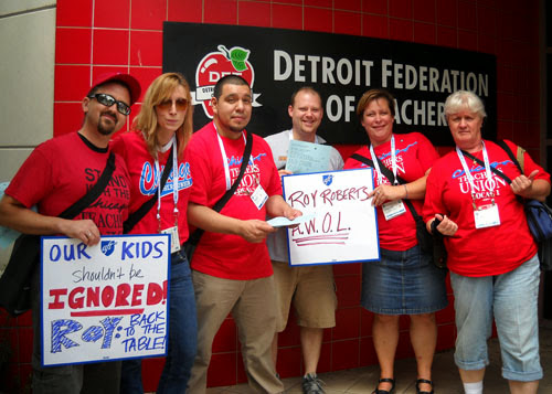 Teachers' union refuses union labor for itself