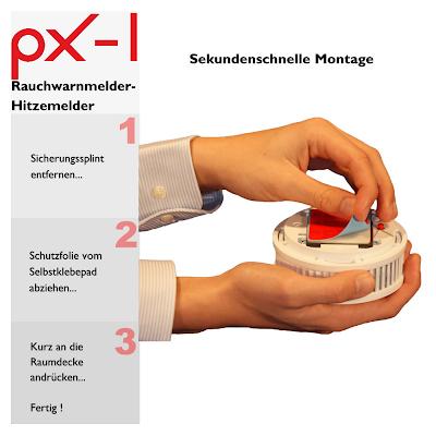 Pyrexx PX-1 Klebe-Montage