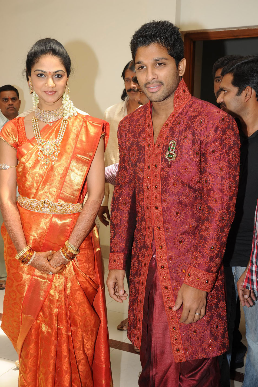 allu arjun wedding reception gallery stills bay movie