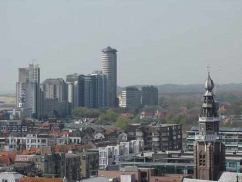 Prachtig uitzicht over de haven en de stad van Vlissingen.