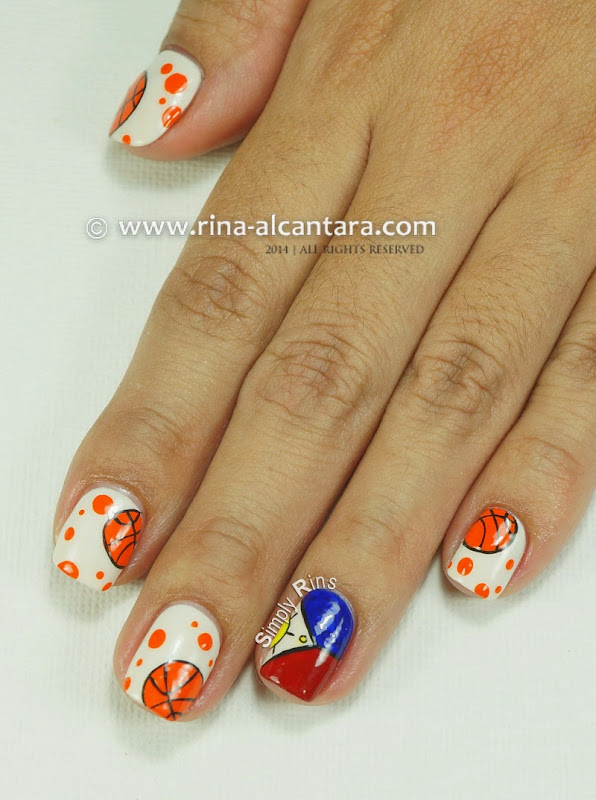 Basketball Nail Art by Simply Rins