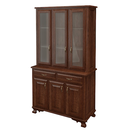 Prairie China Cabinet in Temperance Walnut