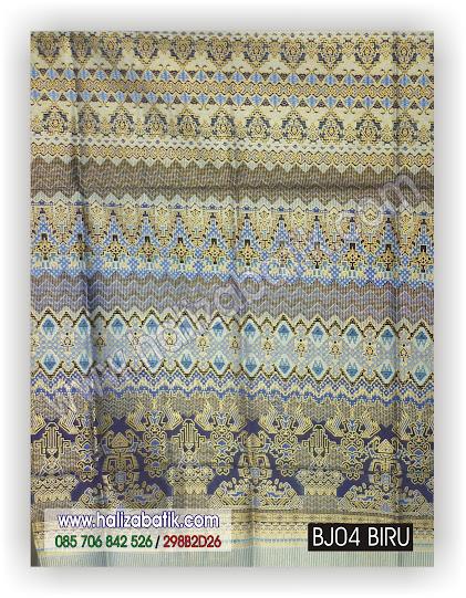 Model Baju Batik, Toko Baju Online, Motif Batik Pekalongan, BJ04 BIRU