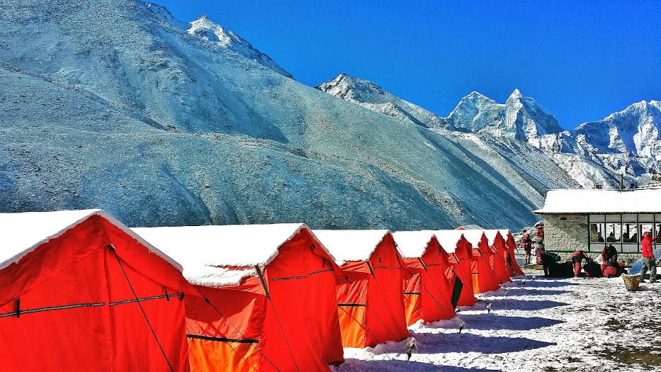One of Yomads permanent campsites en route to Everst Base Camp.