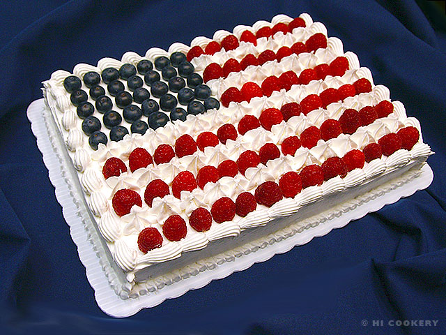 American Flag Cake | HI COOKERY