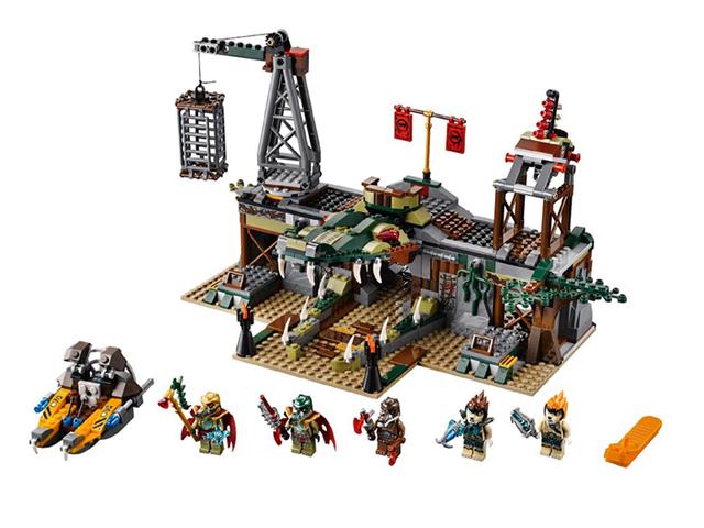 70014 レゴ チーマ ワニ族隠れ家要塞