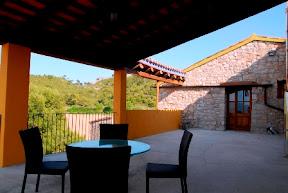 terrassa casa rural vistes Pirineusl