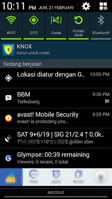 BBM sharing location.