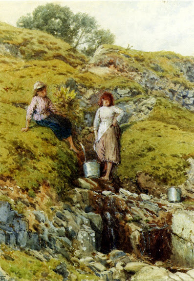 Myles Birket Foster - A Highland Burn, Balmacara, Near Kyle Of Lochalsh
