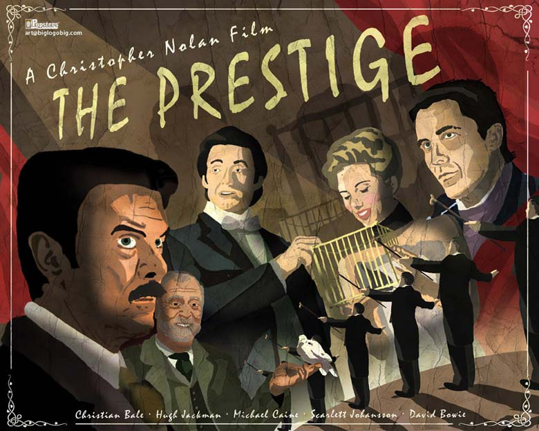 The Prestige / popster retro / by biglogobig.com / Imagen: http://popsterflicks.blogspot.com/