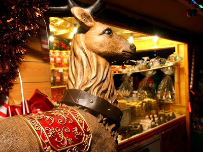 Deer at a Christmas Market