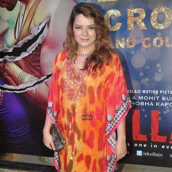 Udita Goswami poses as she arrives for the success party of Bollywood movie 'Ek Villain', held at Ekta Kapoor's residence on July 15, 2014.(Pic: Viral Bhayani)