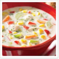 Weight Loss Recipes : Chicken and Corn Chowder