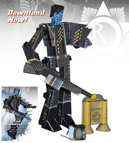Outpost 76819 Dr. Midnight Papercraft