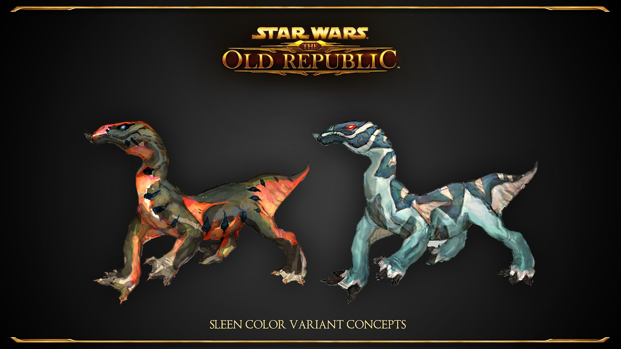 Sleen colour variants