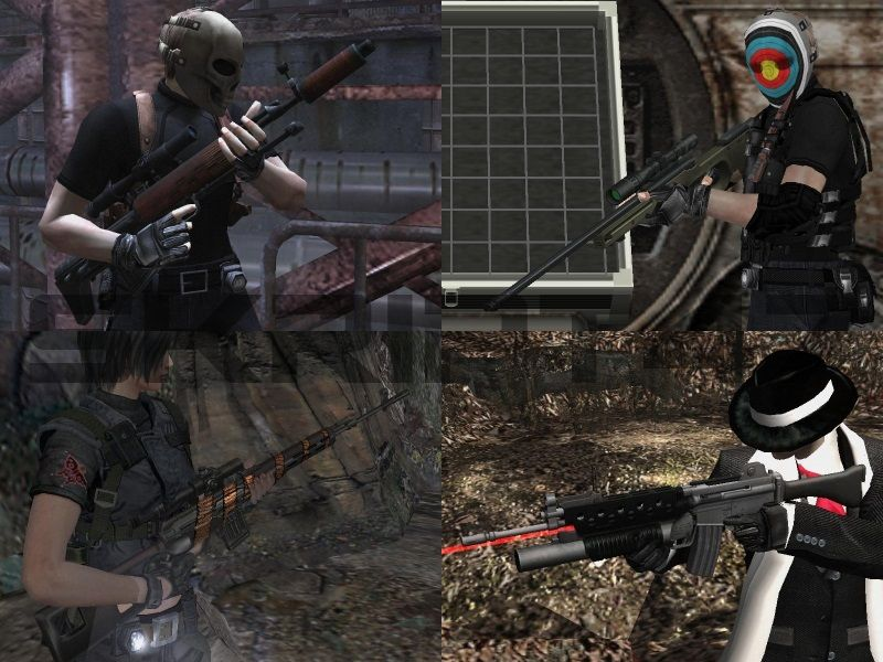 RE4 Weapons Point Blank, SVU, K-2, L115A1